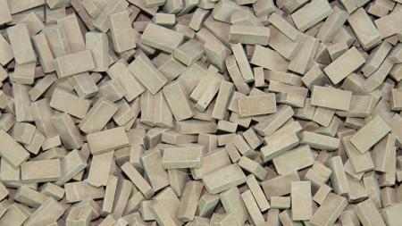 Bakstenen Donker Terracotta 1000 stuks
