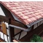Platte dakpan beverstaart  donker rood 1500 stuks