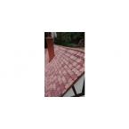 Platte dakpan beverstaart  oud rood 1000 stuks
