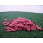 Platte dakpan beverstaart  donker rood 500 stuks