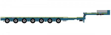 IMC Models Sarens Nooteboom 7-axle semi low loader
