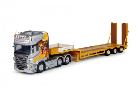 Tekno Krommenhoek Scania R-serie Topline met goldhofer semi-dieplader 3-as. (63054)