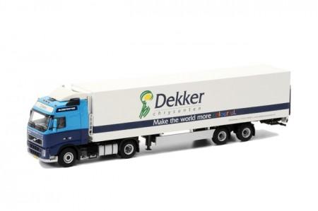 WSI Dekker Chrysanten; Volvo FH 2 Globe 4x2 - Cooltrailer 2 as met laadklep