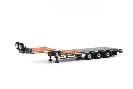 WSI Premium Line Broshuis Semi Lowloader 3 Axle Broshuis Semi Dieplader