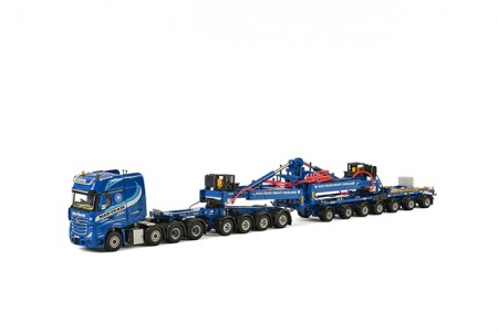 WSI Mar-Train Mercedes-Benz Actros SLT Giga Space 8x4 Nooteboom Mega Windmill Trailer 7 as / Dolly 4 as