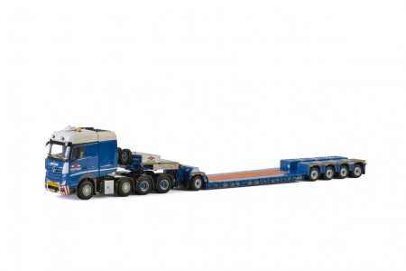WSI Baetsen Mercedes-Benz Actros Big Space Nooteboom 4 as Euro-PX + Dolly 1 as (zonder lading)