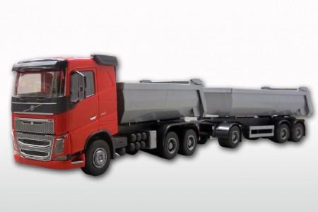 Volvo FH (New) 3-as kieper Rood met 3-As Kieptrailer