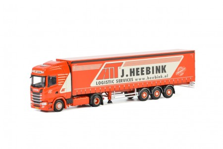 WSI Heebink; SCANIA S HIGHLINE CS20H 4x2 CURTAINSIDE / TAUTLINER TRAILER - 3 AXLE