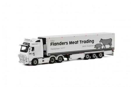 WSI Flanders Meat Trading; VOLVO FH3 GLOBETROTTER XXL 6x2 TWIN STEER REEFER TRAILER - 3 AXLE