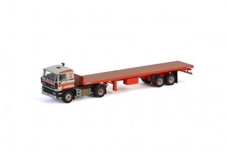 WSI Transports Bialek et Fils; DAF 3600 4x2 CLASSIC FLAT BED TRAILER - 2 AXLE