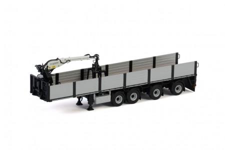 WSI Premium Line; BRICK TRAILER BLACK - 4 AXLE