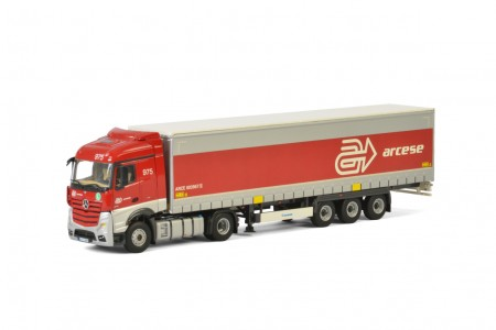 WSI Arcese; MERCEDES BENZ ACTROS MP4 STREAM SPACE 4x2 CURTAINSIDE / TAUTLINER TRAILER - 3 AXLE