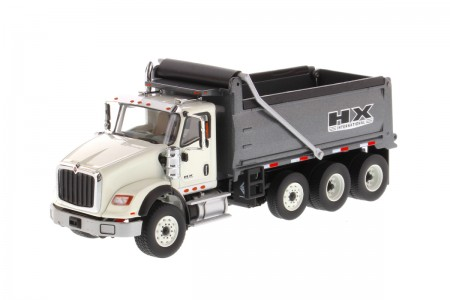 IMC Models International HX620 Dump Truck White Cabin Dump Body Gun Metal