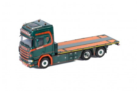 WSI Postma; SCANIA R HIGHLINE | CR20H 6X2 TAG AXLE RIGED FLAT BED TRUCK