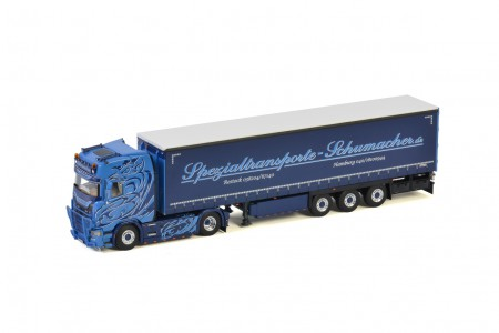 WSI Schumacher; SCANIA S HIGHLINE | CS20H 4x2 CURTAINSIDE / TAUTLINER TRAILER - 3 AXLE (01-3229)