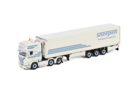 WSI Sneepels Transport; SCANIA STREAMLINE TOPLINE 6X2 TWINSTEER REEFER TRAILER - 3 AXLE (01-3352)