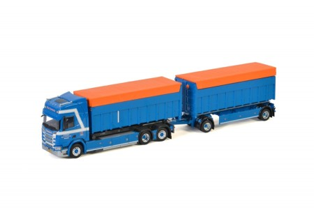WSI Van Deuveren Transport; SCANIA R HIGHLINE | CR20H CONTAINER COMBI WITH CUSTOM CONTAINERS - 5 AXLE (01-3198)