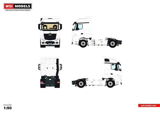 Wsi white line mercedes benz actros mp4 stream space 4x2 for Mercedes benz product line
