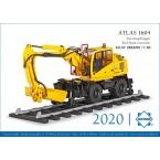 Atlas 1604 ZW Spoorweggraafmachine Blue Rail met snelwissel