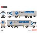 WSI EWALS CARGO CARE B.V.; DAF XG 4X2 CURTAINSIDE TRAILER - 3 AXLE *New DAF XG