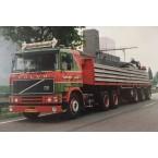 WSI Fonteijn Weert; VOLVO F12 6x4 BRICK TRAILER - 3 AXLE - WITHOUT LOAD