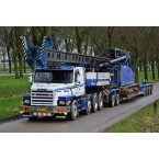 WSI L.A. v.d. Heuvel; SCANIA 3 SERIES 8X4 LOWLOADER EURO 4 AXLE | DOLLY 2 AXLE | Custom Tooling