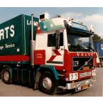 WSI Lommerts; VOLVO F12 GLOBETROTTER 4X2 CURTAINSIDE TRAILER - 3 AXLE