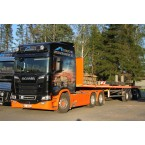 WSI Element og Spesialtransport AS; SCANIA R HIGHLINE | CR20H 6x4 FLATBED TRAILER 3 AXLE