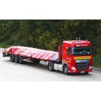 WSI Transports Capelle; DAF XF SPACE CAB 4X2 MEGATRAILER FLATBED - 3 AXLE