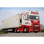 WSI F&R Transport; SCANIA S HIGHLINE   CS20H 6X2 TWINSTEER CONTAINER TRAILER - 3 AXLE   40 FT CONTAINER