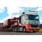 IMC Models Zwagerman Mercedes-Benz Actros Bigspace 8x4 with Nooteboom MCO Semi Low Loader 8 axle