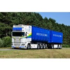 WSI Hoeksema; SCANIA STREAMLINE TOPLINE 8X2 TAG AXLE RIGED | TRUCK | DRAWBAR | HOOKLIFT SYSTEM + CONTAINER 40M3