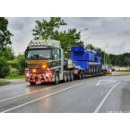 WSI Bolk Transport; MERCEDES-BENZ ACTROS MP4 SLT GIGA SPACE 8X4 LOWLOADER 4 AXLE + DOLLY 2 AXLE