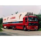 WSI Van der Kwaak Transport; VOLVO F12 6X2 TAG AXLE RIGED | COMBI | REFRIGERATED - 5 AXLE