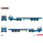 WSI Econofreight; SCANIA 1 SERIES 6X4 FLAT BED TRAILER - 3 AXLE