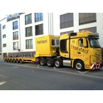 WSI Flo?dorf; MERCEDES-BENZ ACTROS MP4 SLT BIG SPACE 8X4 SEMI LOW LOADER - 6 AXLE + 10 FT CONTAINER