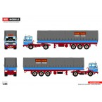 WSI Rynart-Trucks; DAF 2600 4X2 CURTAINSIDE TRAILER | CLASSIC - 3 AXLE