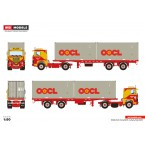WSI Henk Vlot Transport; SCANIA 1 SERIES 4X2 CONTAINER TRAILER CLASSIC + 2X 20 FT CONTAINER - 2 AXLE