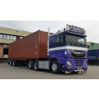WSI W. Neidhöfer Transport; DAF XF COMFORT CAB MY2017 6X2 TAG AXLE CONTAINER TRAILER CLASSIC + 2X 20FT CONTAINER - 2 AXLE