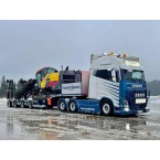 WSI Transport Service AS Skien; VOLVO FH4 GLOBETROTTER XXL 6X4 SEMI LOW LOADER   RAMPS - 4 AXLE