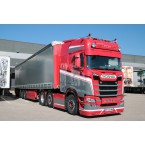 WSI Transports F.L.A.M.; SCANIA S HIGHLINE 6X2 TWINSTEER CURTAINSIDE TRAILER - 3 AXLE