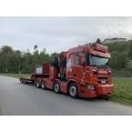 WSI Ørjan Orra Transport AS; SCANIA R NORMAL CR20N 8x4 | PALFINGER PK92002 SH + JIB (Without trailer)