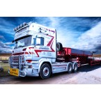 IMC Models Straumann Scania R-Streamline Topline 6x4 with Nooteboom MCO-PX 6 axle