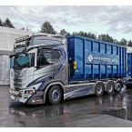 WSI NORSK SANERINGSSERVICE; SCANIA R HIGHLINE   CR20H 8X4 RIGID   TRUCK   HOOKLIFT SYSTEM + HOOKLIFT CONTAINER 40M3