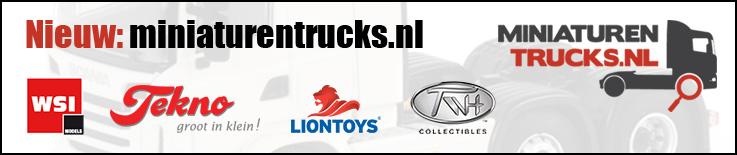 Nieuw: Miniaturentrucks.nl. WSI, Tekno, Lion Toys, TWH